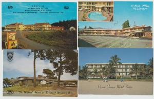Lot of 4 Hotel Motel Roadside Postcards