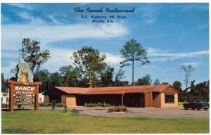 Mobile,  Alabama, Early View of The Ranch Restaurant