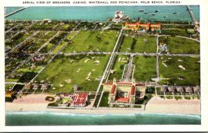 Florida Palm Beach Aerial View Of Breakers Casino Whitehall and Poinciana