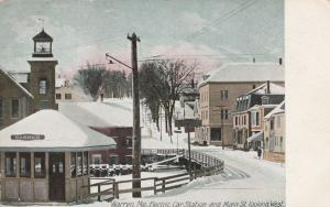 Electric Rail Trolley Station - Warren, Maine - DPO South Union 1909 - DB