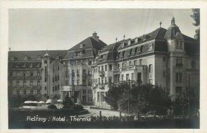 Slovakia Piešťany Piestany spa town hotel Thermia real photo postcard