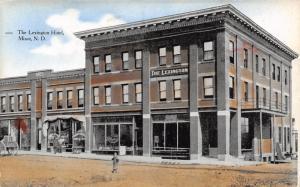 Minot North Dakota~Lexington Hotel~Couple at Candy Store Next Door~1908 Postcard