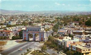 Guadalajara Jal. Mexico~Panoramic View~Los Arcos~Stores~Shops~1972 Postcard