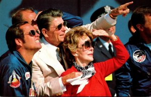 President Ronald Reagan Watches Landing Of Space Shuttle Columbia 3 June 1982