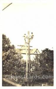 Utility Pole Workers, Telephone, Electric, Elecrical Linemen, Real Photo Post...