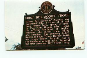 Postcard Kentucky Burnside First Boy Scout Troop Historical Marker  # 2916A