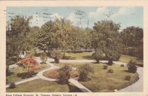 Alma College Grounds, St. Thomas, Ontario, Canada, PU-1950