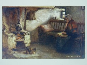 Scottish Life PEACE AT EVENTIDE c1911 Postcard by Raphael Tuck 9995