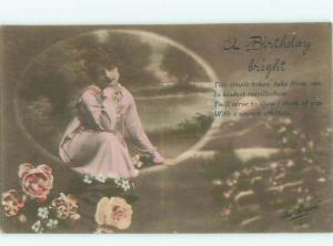 Divided-Back PRETTY WOMAN Risque Interest Postcard AA7826