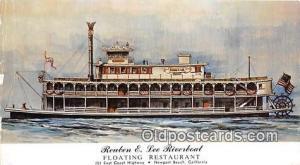 Ferry Boat Postcard Newport Beach, CA, USA Reuben E Lee Riverboat Restaurant