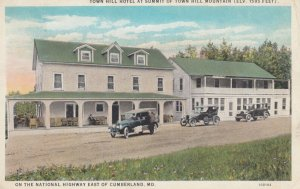 CUMBERLAND , Maryland , 1910s ; Town Hill Hotel