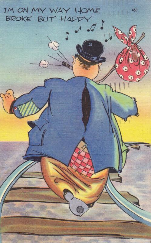 HOBO Comic, 1950; I'm on my way Home , Broke But Happy