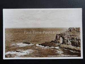 Antrim Giants Eyeglass & Giants Causeway - Old RP Postcard by S.P.Co