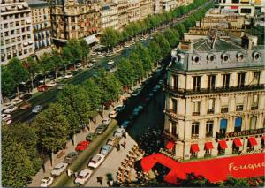 Paris France L'Avenue des Champs-Elysees c1968 Postcard D58
