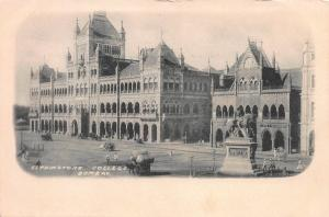 Elphinstone College, Bombay, India, Early Postcard, Unused