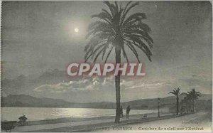 Postcard Old Cannes Sunset on the Esterel