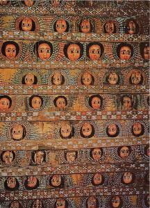 BG14164 painting on ceiling of debre berhan selassie church in gondar ethiopia