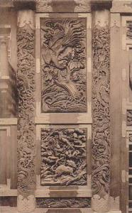 La Tour Japonaise, Colonnes Et Panneaux Sculptes Du Pavillon d'Entree, Bruxel...
