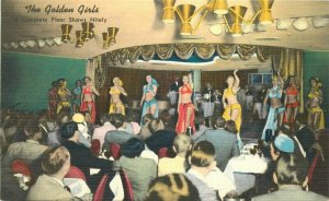Colorpicture Gold Room Golden Bank Casino Reno Nevada Postcard 20-10912