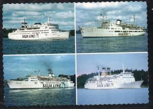 Colour PC 4 Silja Line steamships unused