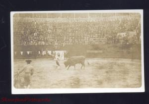 RPPC MATAMOROS MEXICO BULLFIGHT MATADOR STADIUM REAL PHOTO POSTCARD XXMX