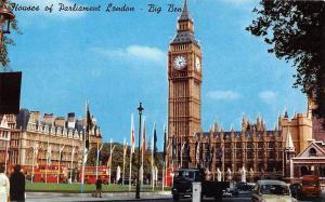 BR77642 houses of parliament london big ben car voiture  uk 14x9cm