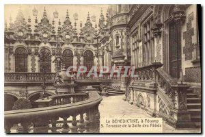 Postcard The Old Benedictine Fecamp Terrace has the Hall of Abbes