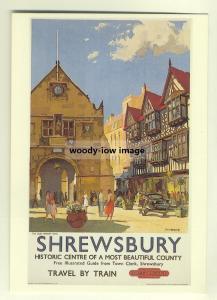 ad2870  -  BR -  Shrewsbury Historic Centre  -   modern poster advert postcard