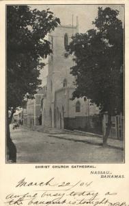 bahamas, NASSAU, Christ Church Cathedral (1904) Postcard