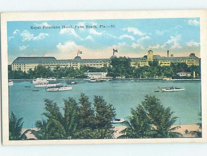 Unused W-Border HOTEL SCENE Palm Beach - West Florida FL B1602