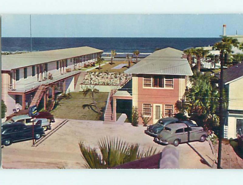 Unused 1950's OLD CARS & CAPRI MOTEL Daytona Beach Florida FL u2022@