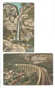 2 PCs,Waterfalls & Railroad tracks,Gorges du Loup,00-10
