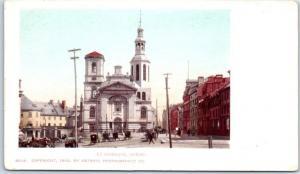 Quebec City QC Canada Postcard LA BASILIQUE Church Street View Detroit Pub. 1902