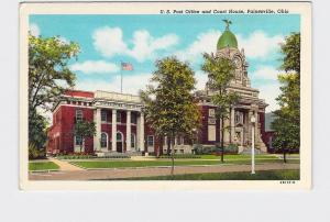 ANTIQUE POSTCARD OHIO PAINESVILLE US POST OFFICE AND COURT HOUSE EXTERIOR STREET