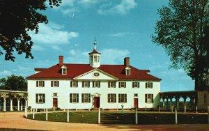 Mt. Vernon, VA, Washington's Home, West Front, Chrome Vintage Postcard g9142