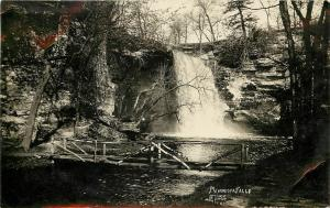 c1910 RPPC Minneopa Falls MN Mankato Krost Photo Blue Earth Rustic Footbridge