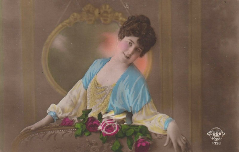 RP: Woman & a rose , 1920