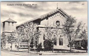 GLENDIVE, Montana  MT     CATHOLIC CHURCH    Postcard