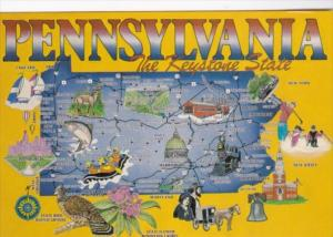 Map Of Pennsylvania The Keystone State