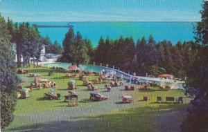 Michigan Mackinac Island The Grand Hotel Pool