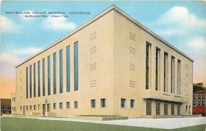 Burlington Iowa~Art Deco Memorial Auditorium~American Legion~EC Kropp Co 1940 PC
