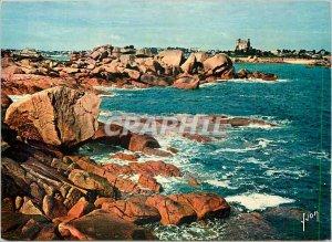 Postcard Modern Ploumanach North Cotes Pile of pink rocks along the coast