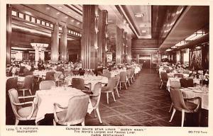 White Star Line Cunard Ship Post Card, Old Vintage Antique Postcard Liner Que...