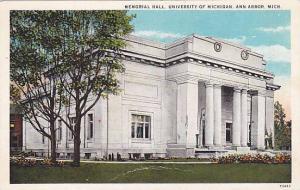 Exterior, Memorial Hall, University of Michigan, Ann Arbor, Michigan, 00-10s