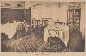 New York Highland Mills Academy Of Jesus And Mary Dining Room Albertype