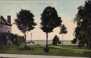 New York Ogdensburg Library Park And Saint Lawrence River 1910