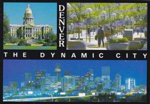 Colorado Denver Capitol Building 16th Street Mall and Skyline