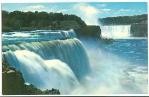 American Falls at Prospect Point and Horseshoe Falls in the Distance, Niagara