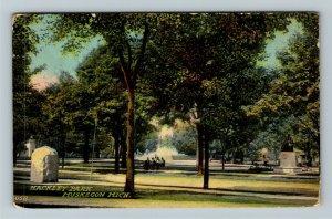Muskegon MI-Michigan, Scene In Hackley Park, Vintage Postcard