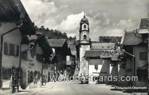 Mittenwald Obermarkt Germany, Deutschland Postcard  Mittenwald Obermarkt